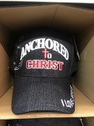 ANCHORED TO CHRIST Christian Hat Baseball Cap #BLACK
