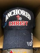 ANCHORED TO CHRIST Christian Hat Baseball Cap #DENIM