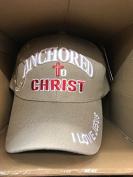 ANCHORED TO CHRIST Christian Hat Baseball Cap #BEIGE