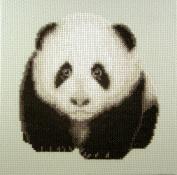 Playful Panda Counted Cross Stitch kit by Orcraphics
