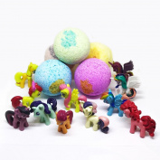 For Kids Bath Bombs For Girls My Little Pony Twilight Sparkle & Friends,Shopkins Bath Bombs Gift with Toys Inside Surprise Gift for Girls Birthday Gift idea For Girls Kids bubble bath