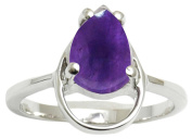 Banithani 925 Sterling Silver Gorgeous Amethyst Stone Designer Ring Fashion Jewellery