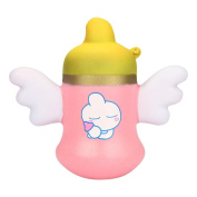 VEMOW Squishy Angel Baby Bottle Scented Charm Slow Rising Squeeze Stress Reliever Toy Easter Gift
