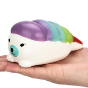UPXIANG Squishy Jumbo Sushi Slow Rising and Scented Charm Squeeze Stress Reliever Toy for Adults
