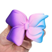 UPXIANG Jumbo Squishies Galaxy Bowknot Beautiful Squeeze Toys Home Decor, Slow Rising and Scented Relief Anxiety Stress Decompression Toys for Adults