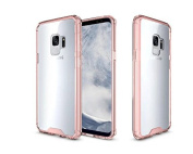 ARUSUE Galaxy S9 Case Ultra Slim Liquid Crystal Clear Transparent Lightweight Scratch Resistant Premium Hybrid Protective Cover for Samsung Galaxy S9 (15cm ) 2018 Release - Rose Gold