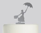 Mary Poppins - Acrylic Cake Topper - Mirror Acrylic