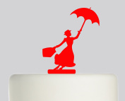 Mary Poppins - Acrylic Cake Topper - Red Acrylic
