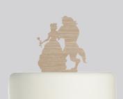 Beauty and the Beast - Acrylic Cake Topper - Oak Wood Acrylic