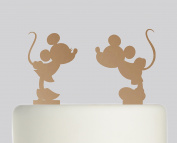 Mickey mouse and Minnie Mouse individual cake toppers - Acrylic Cake Topper - Bronze Mirror Acrylic