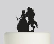 Beauty and the Beast - Acrylic Cake Topper - Black Acrylic