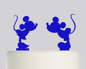 Mickey mouse and Minnie Mouse individual cake toppers - Acrylic Cake Topper - Blue Acrylic