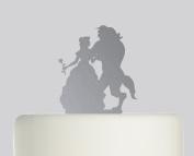 Beauty and the Beast - Acrylic Cake Topper - Mirror Acrylic