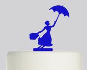 Mary Poppins - Acrylic Cake Topper - Blue Acrylic