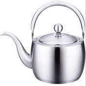 GAOLILI 304 Stainless Steel Thicker Bottom Small Kettle 1.5 Litres Whistle Kettle Cooker With Kung Fu Teapot