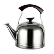 GAOLILI Stainless Steel Kettle Coal Gas Water Kettle Induction Cooker Kettle Whistle Large Capacity 5L