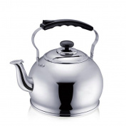 GAOLILI Kettle Stainless Steel 304 Kettle, Kettle 5L Large Capacity Whistle Gas Induction Cooker Gas