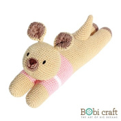 The Lazy Karo, hand crochet toy, soft plush toy, safe gift for new born babies and children, even infants, bedtime toy for kids, designed by Bobi Craft.