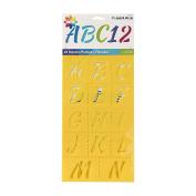 Delta Creative Script Alphabet Stencil