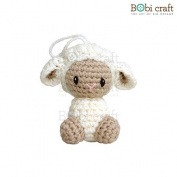 Babra Ornament, hand crochet toy, soft plush toy, safe gift for new born babies and children, even infants, bedtime toy for kids, designed by Bobi Craft.