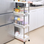 WENZHE Kitchen Storage Rack Corner Tray Shelf Bathroom Catch Slot Storage Sort Out Household Products Multifunction, 3 Colours, 3/4 Layers, 2 Sizes