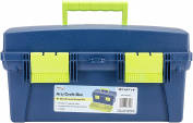 Pro Art Storage Box W/Lift-Out Organiser Tray-41cm x 21cm X8.60cm Blue & Green