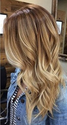 Ugeat 60cm 50Strands I Tip Remy Hair Extensions Human Hair Colour #6 Medium Brown To Bleach Blonde #613 100% Keratin Beads For Extensions 1g/s