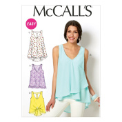 "McCall Pattern Company M6960 Misses' Tops and Tunics, Size Y ""XSM-SML-MED"""