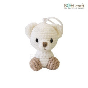Lizzie Ornament, hand crochet toy, soft plush toy, safe gift for new born babies and children, even infants, bedtime toy for kids, designed by Bobi Craft.