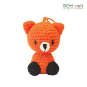 Foxxie Ornament, hand crochet toy, soft plush toy, safe gift for new born babies and children, even infants, bedtime toy for kids, designed by Bobi Craft.