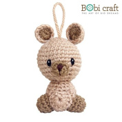 Karo Ornament, hand crochet toy, soft plush toy, safe gift for new born babies and children, even infants, bedtime toy for kids, designed by Bobi Craft.
