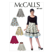 McCall's Patterns M7197 Misses' Skirts Sewing Template, A5