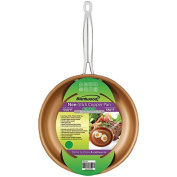 "Brentwood 10"" Non-Stick Induction Copper Pan – Food Slides Right Onto Your Plate – Cook Healthy No Oil/Butter Needed – Wipes Clean & Dishwasher Safe – Fast Even Heating with Induction Base"