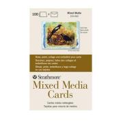 Strathmore STR-105-662 Mixed Media Full Cards (100 Pack), 13cm by 17cm