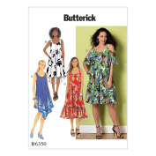 McCall Pattern B6350-0Y0 Misses' Sleeveless and Cold Shoulder Dresses
