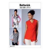 McCall Pattern B6357-0Y0 Misses' Sleeveless Wrap Tops with Shawl Collar