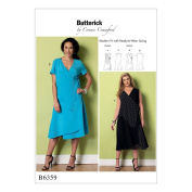 McCall Pattern B6359-Mis Misses'/Women's Wrap Dresses with Overlays