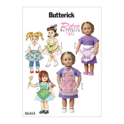McCall Pattern B6468-Osz 18 Doll Aprons and Dress-One Size Only