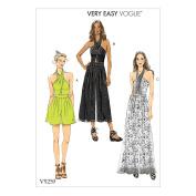 Vogue V9259 6-14 Sewing Pattern Ladies Scarf Halter Jumpsuit/Romper 3 Styles
