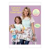 McCall Pattern K0223-00000 Misses'/Girls'/18 Dolls' Matching Full Aprons