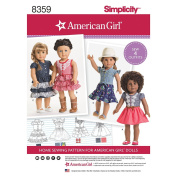 SIMPLICITY 8359 46cm American Girl Doll Clothes SEWING PATTERN