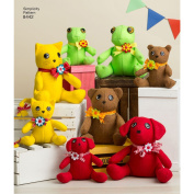 Simplicity Sewing Pattern 8442 -Felt Stuffed Animals in 2 Sizes