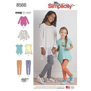 Simplicity Pattern 8566 Child's and Girls' Tunics and Leggings SIZE 3-6 SEWING PATTERN