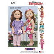 Simplicity Pattern 8574 36cm Doll Clothes Sewing Pattern