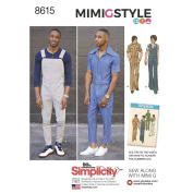Simplicity Pattern 8615 BB Men's Vintage Jumpsuit and Overalls by Mimi G, Size 44-52