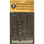 Walnut Hollow Leather Stencil