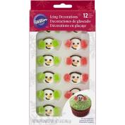 Wilton Snowman Earmuffs Edible Cupcake Toppers