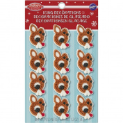 Wilton Rudolph the Red-Nosed Reindeer Edible Cupcake Toppers