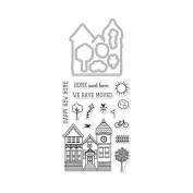 Hero Arts House Stamp & Cut Rubber Stamp & Die Set