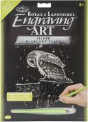 Royal Brush Silver Foil Engraving Art Kit, 20cm by 25cm , Snowfall at Night